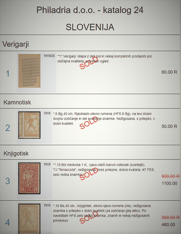 24. dražba - rezultati